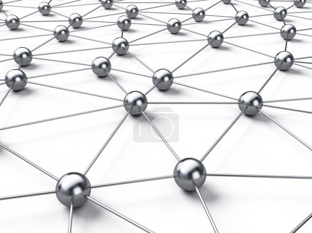 connection network on white