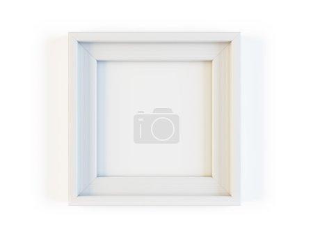 White frame isolated on white