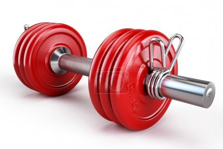 Red Dumbbells weigths