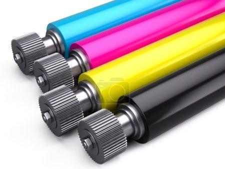 Printer CMYK Rollers