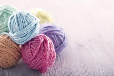 Pastel yarn balls