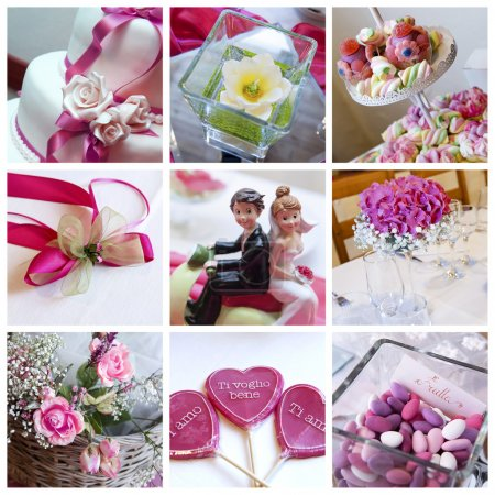 Photo pour Collage de photos de mariage - image libre de droit