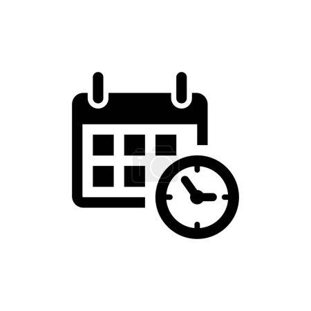 Kalender mit Uhrzeitsymbol