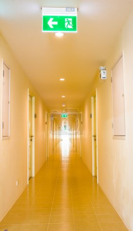 the long corridor in hotel
