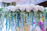 Krásná výzdoba květin pro svatební fotografie střílet