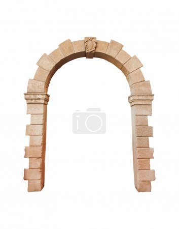 stone arch architecture isolated on white background, cliping pa