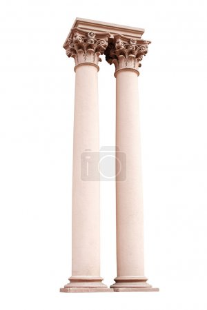 Photo for Architectural columns isolated on white background. - Royalty Free Image
