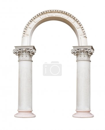 Photo for Beautiful pillar, columns in classical style isolated on white background. - Royalty Free Image