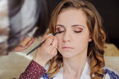 Brides make-up in the morning