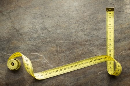measuring tape on table