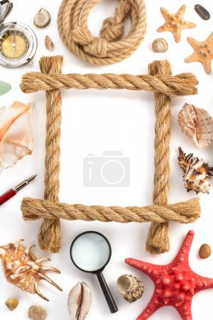 Ship rope and sea concept