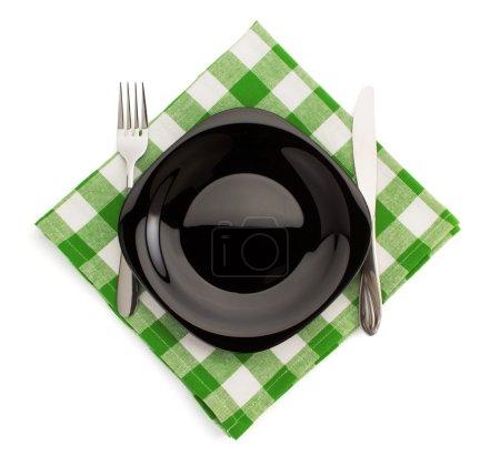 Kitchen utensils on napkin