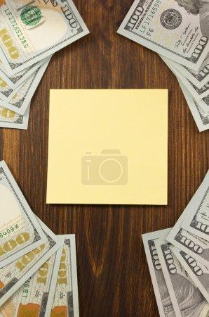 Dollars money banknotes