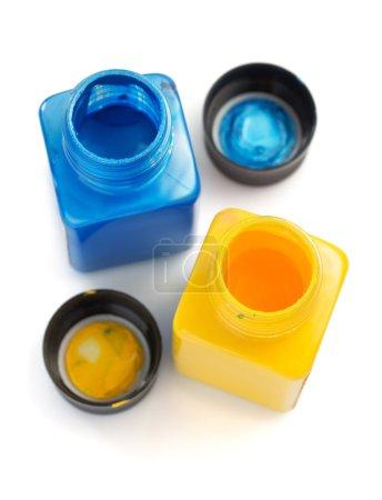 colorful paint bottles