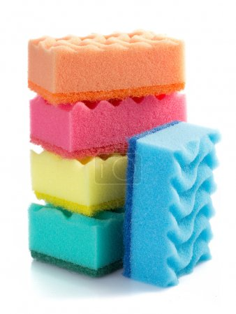 Colorful cleaning sponges