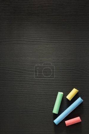 piece of chalk on wood