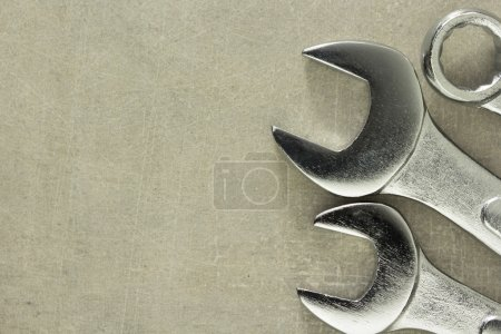 wrench tools at metal
