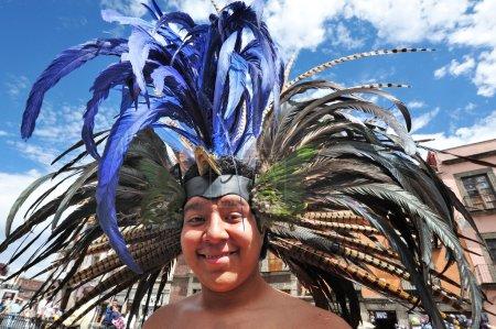 Portrait of Male Aztec in Zocalo Square