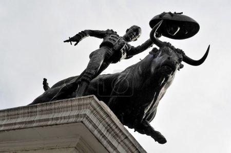 Statue of a Matador and a bull