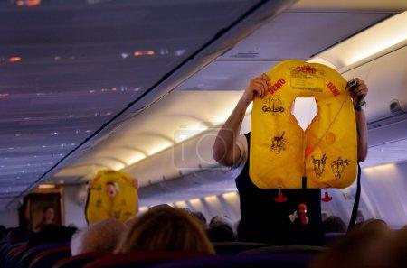 GOLD COAST, AUS - NOV 22 2014:Flight attendants du...