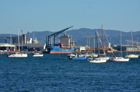 Port of Tauranga in New Zealand