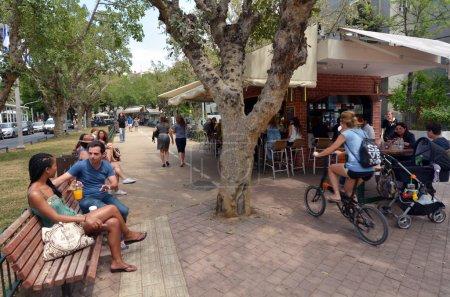Rothschild Boulevard in Tel Aviv - Israel