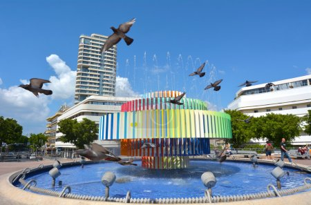 Fire and Water Fountain in Tel Aviv - Israel