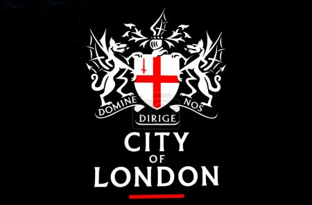 City of London Sign on dark background