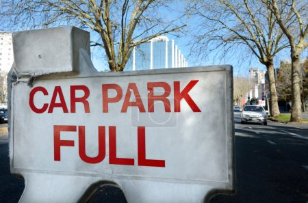 Car park full sign
