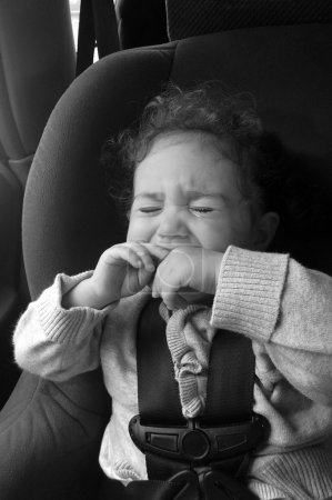 Child cry in a car seat