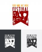 Food Wine Art Music Festival Logo