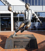 The statue of Bob Rose, an Australian rules footballer, at Olympic Park in Melbourne.
