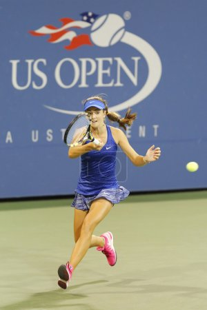 Fifteen years old tennis player Catherine Bellis during second round match at US Open 2014