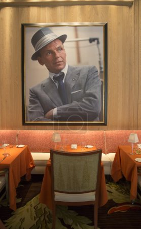 Photo pour LAS VEGAS, NEVADA - 10 MAI : Guide de Voyage Forbes Restaurant quatre étoiles Sinatra Intérieur à Encore Las Vegas Casino sur Mai 10, 2014. C'est le seul restaurant italien sanctionné par la famille Frank Sinatra - image libre de droit
