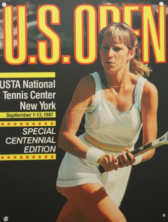 US Open 1981 poster on display at the Billie Jean King National Tennis Center in New York