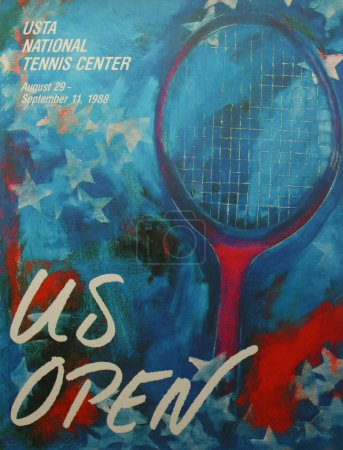US Open 1998 poster on display at the Billie Jean King National Tennis Center in New York