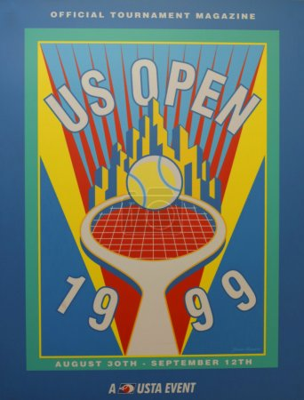 US Open 1999 poster on display at the Billie Jean King National Tennis Center in New York