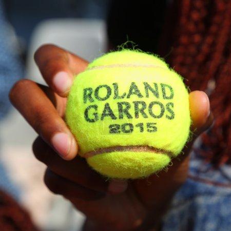 Babolat Roland Garros 2015 tennis ball  at Le Stade Roland Garros in Paris, France