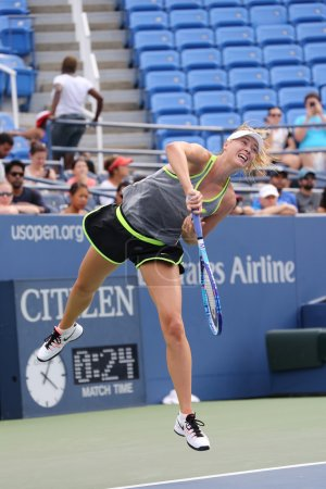 Five times Grand Slam Champion Maria Sharapova practices for US Open 2015 at National Tennis Center
