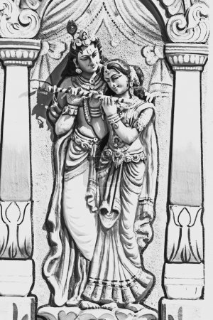 Sculpture of Radha Krishna