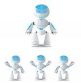 Cute cartoon robot character