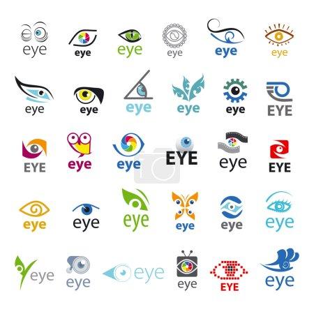 Illustration pour Plus grande collection de logos vectoriels Eye - image libre de droit