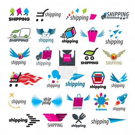 Biggest collection of vector logos of shipping