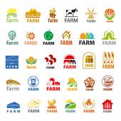 Large set of vector logos farm