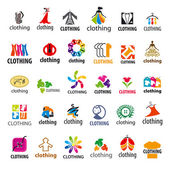 large set of vector logos clothing