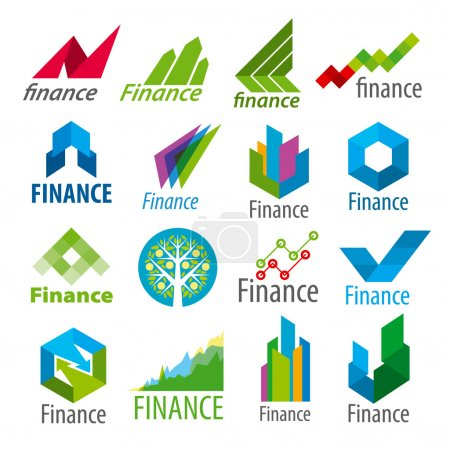 big set of vector logos Finance