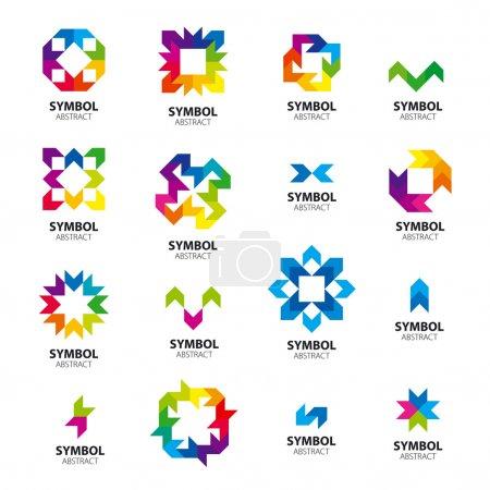 Big collection of vector logos abstract modules
