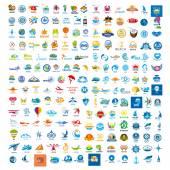large set of vector logos trip