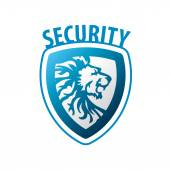 Vector logo shield in the form of a lion