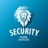 Lion vector logo for security guards